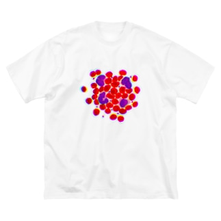 blood cells〜血球〜 Big silhouette T-shirts
