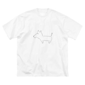 らいおんしっぽのわんこちゃん Big silhouette T-shirts