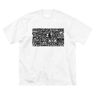J-Style/Jスタイル【クランロゴ ・マスコットロゴ デザイナー】のテスト Big silhouette T-shirts