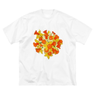 水仙のブーケ Big silhouette T-shirts