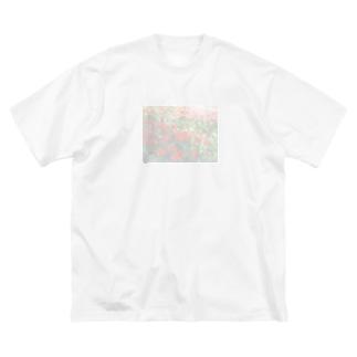 眩しいチューリップ Big silhouette T-shirts