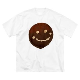 ザッハトルテの微笑み Big silhouette T-shirts