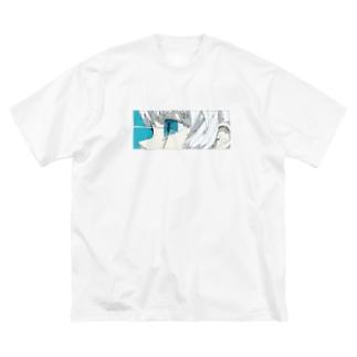 青と熱 Big silhouette T-shirts