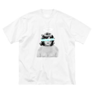 愛之助の絵の Big silhouette T-shirts