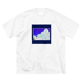 夏の終わりの知らせ Big silhouette T-shirts