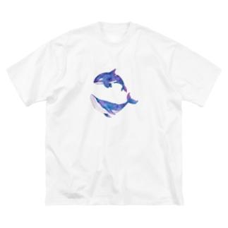 しゃちとくじら Big silhouette T-shirts