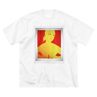 手ぶら Big silhouette T-shirts