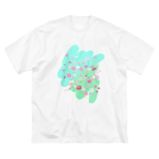 秋桜畑で会いましょう Big silhouette T-shirts