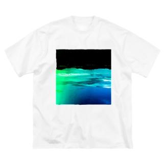 禁断の惑星 Big silhouette T-shirts