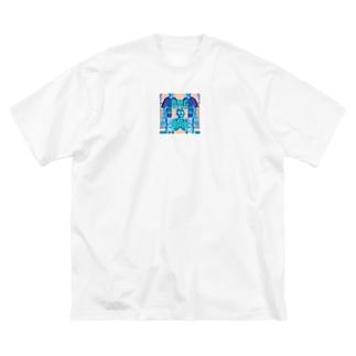 おらちんの奇妙な冒険〜フィリピンのジョリビーはクソまずい〜 Big silhouette T-shirts
