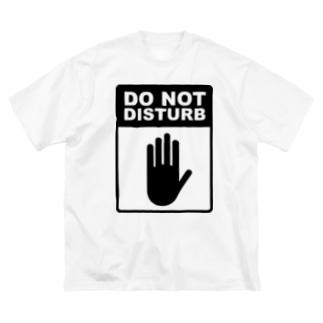起こさないでください(黒) Big silhouette T-shirts