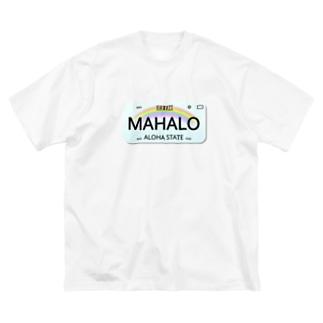 ハワイナンバープレート・MAHALOちゃん Big silhouette T-shirts