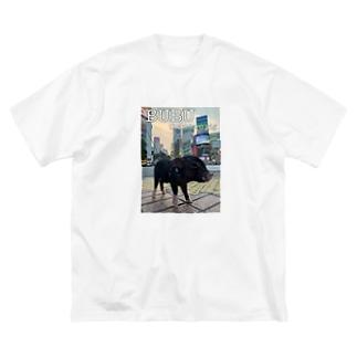 BUBU shibuya Big silhouette T-shirts