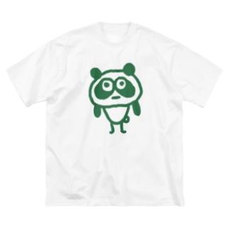 助けてさんのやばぱんだ Big silhouette T-shirts