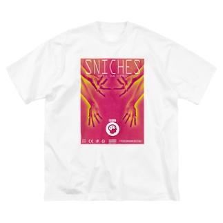 おててがたくさん Big silhouette T-shirts