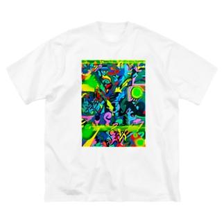 あぶすと3 Big silhouette T-shirts