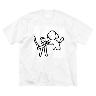 椅子の上のぬいぐるみ Big silhouette T-shirts