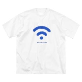 Wi-Fiマーク Big silhouette T-shirts