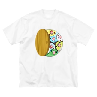 三密です!むちむちマメルリハさん【まめるりはことり】 Big silhouette T-shirts