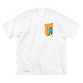 しばいぬさん おしり Big silhouette T-shirts