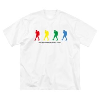 4色ロゴビッグシルエットT Big silhouette T-shirts