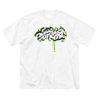 スリスリ君 グラフィティ Big silhouette T-shirts