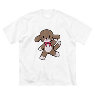 踊る犬 Big silhouette T-shirts
