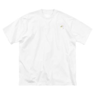 バナナうさぎ(ミニ) Big silhouette T-shirts