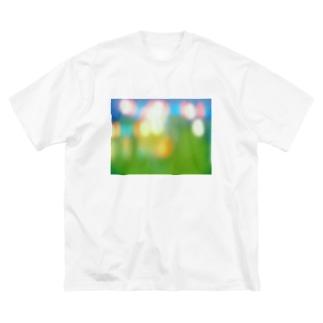 祭りのあと Big silhouette T-shirts