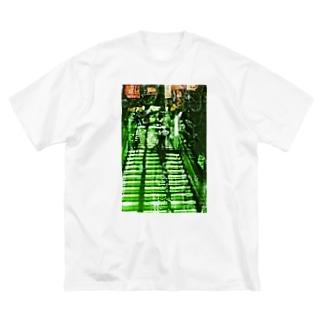 階段 Big silhouette T-shirts