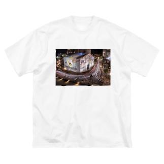 道後温泉 Big silhouette T-shirts