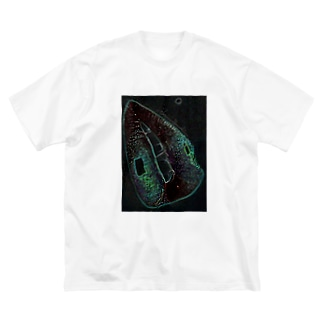 Green Rip Big silhouette T-shirts