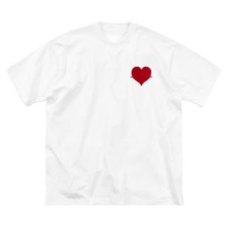 脈打つHeart Big silhouette T-shirts
