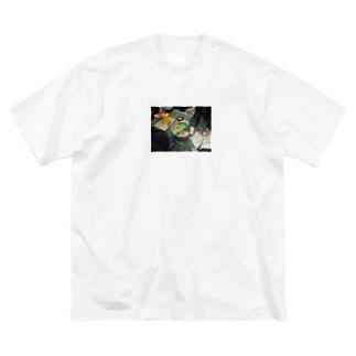 幹事長のもつ鍋 Big silhouette T-shirts