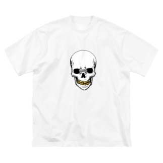 スカル【金歯】 Big silhouette T-shirts