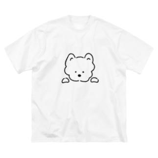 わんこ Big silhouette T-shirts