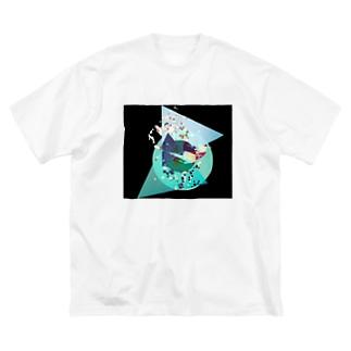 手と▲ Big silhouette T-shirts