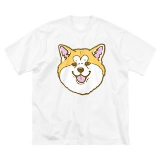 秋田犬ハッピースマイル赤毛 Big silhouette T-shirts