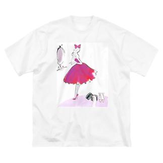 今日は輝きたい~ Jojo Yan Big silhouette T-shirts