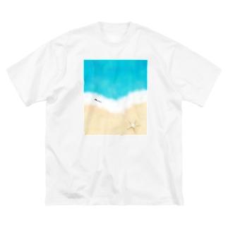 マリンTime Big silhouette T-shirts