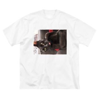 てへっぺろっ💕 Big silhouette T-shirts