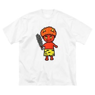 オニ Big silhouette T-shirts