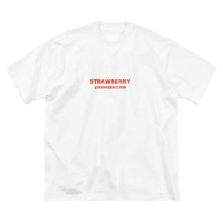 STRAWBERRY×STRANGERACCON Big silhouette T-shirts