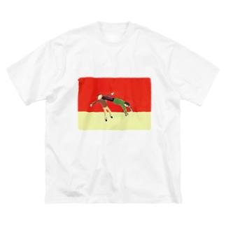 シティライツワンシーン「ドロップキック」 Big silhouette T-shirts