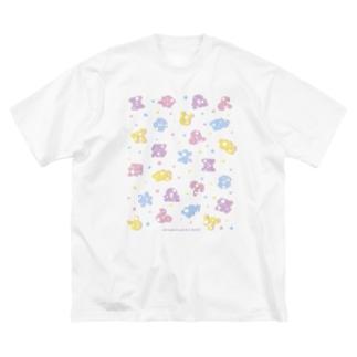 ポップ!星座記号 カラフル Big silhouette T-shirts