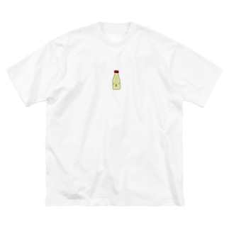 マヨネーズおやぶん Big silhouette T-shirts