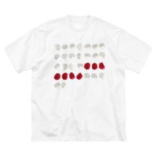 バラ色の日々 Tシャツ Big silhouette T-shirts