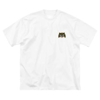 SAKUちゃんアライグマ Big silhouette T-shirts