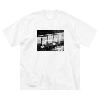 霜付きアイス Big silhouette T-shirts