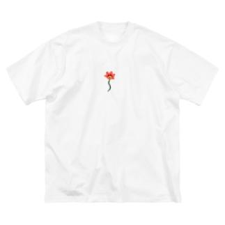 ニワの花 Big silhouette T-shirts